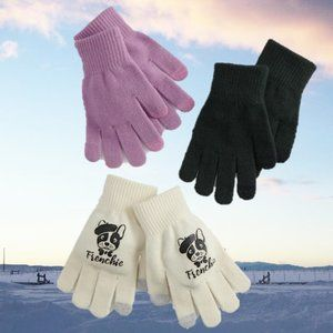 Gloves - 3 Pair of Soft Knit Purse Gloves